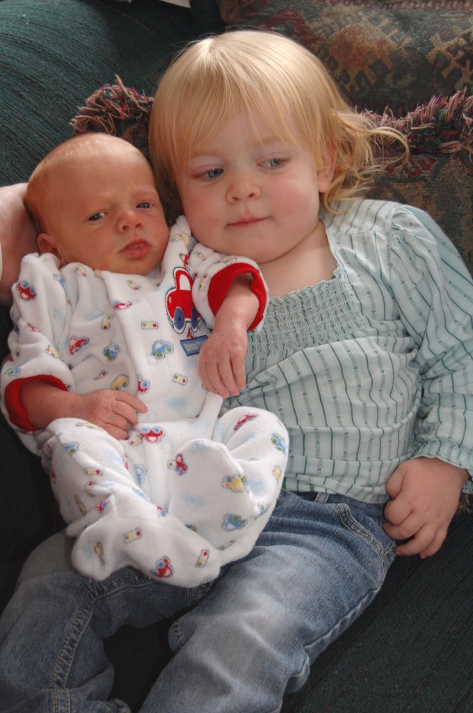 McKenzie with her new brother Michael